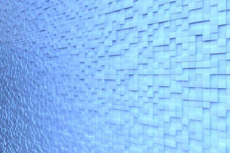 cuboid: Blue background wall made of many 3D cubes