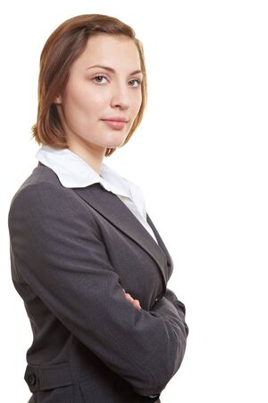 Portrait of successful female executive with her arms crossed photo