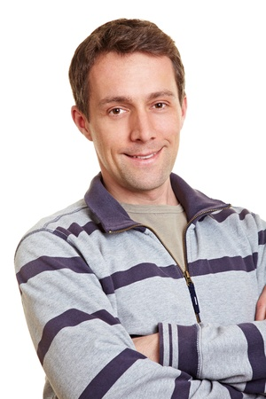 Happy smiling man crossing his arms Stock Photo - 14333732