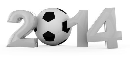 Soccer tournament in 2014 with football in 3D Stock Photo - 14453056