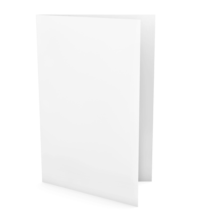 blank sign: Empty greeting card isolated on white background