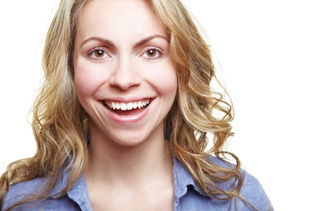 Portrait of happy laughing attractive woman looking into the camera Stock Photo - 14639877