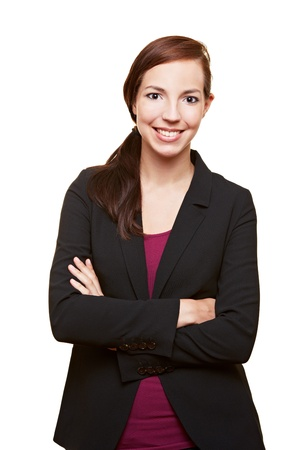 Successful young business woman with her arms crossed Stock Photo - 14961892