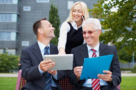 Modern people business communication with tablet computer and smartphone Stock Photo - 15784015