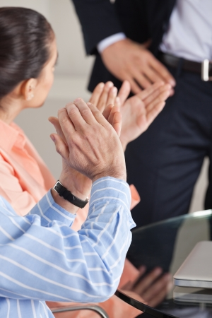 Hands giving applause after a business presentation Stock Photo - 16128652