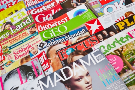 German media variety with covers of different magazines Stock Photo - 16284384