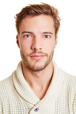 viso di uomo: Colpo di testa di un giovane uomo attraente Archivio Fotografico