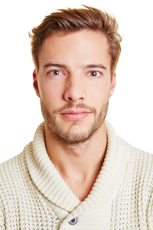 frontal: Head shot of a young attractive man Stock Photo