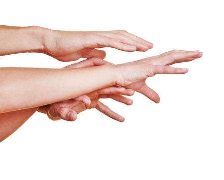 Many desperate hands reaching out for help Stock Photo - 16966147