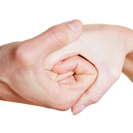 Two hands forming a spiral with the fingers Stock Photo - 17104917