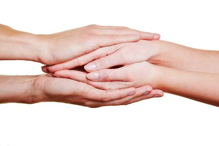 Folding some hands for condolence and comfort Stock Photo - 17104913
