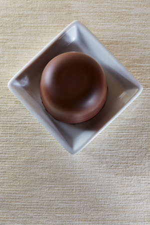 marshmellow: Chocolate marshmellow from above on a table