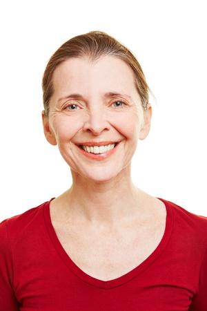 Portrait of a happy senior woman smiling Zdjęcie Seryjne