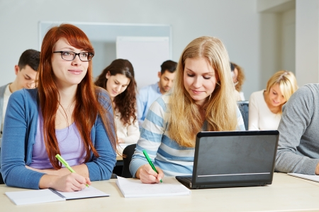 Many students studying in a course of an university Stock Photo - 18326881