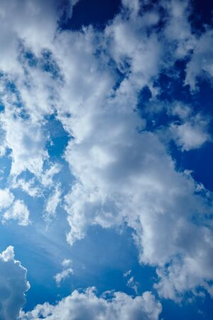 infinitely: Light cloudy blue sky with some clouds Stock Photo