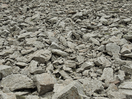 rubble: Many stone and gravel on a mountain in the Italian Alps