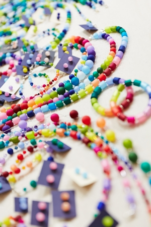 Colorful accessories at jewelry store photo