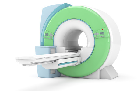 Modern magnetic resonance tompgraph MRI isolated on white background photo