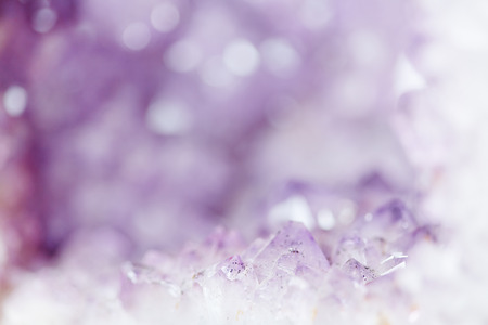 Abstract purple amethyst background with copy space