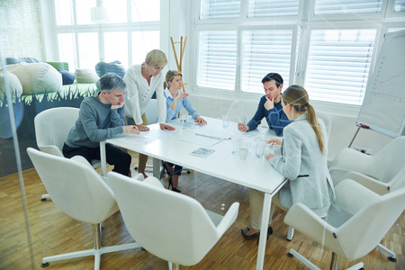 Business team working together in conference room of the office Stock Photo