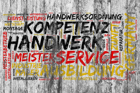 German tag cloud as concept for craftsmanship in Germany photo