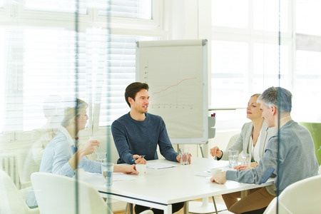 Business team in a consulting meeting in the office Stock Photo