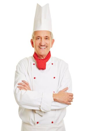 workwear: Smiling chef cook with his arms crossed in workwear Stock Photo