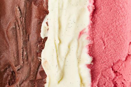 neapolitan: Neapolitan ice cream with chocolate and vanilla and strawberry ice cream