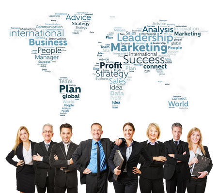 corporate consulting: International business team with lawyers and marketing strategy