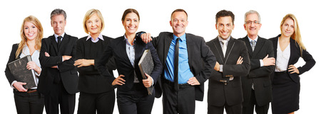 Professional business lawyer team standing together as a group