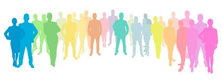 apprenticeship: Business People Group in different colors Stock Photo