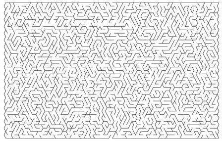 hardship: Maze vector shape illustration for a background game