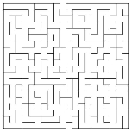 hardship: Maze in square format for background vector game Illustration