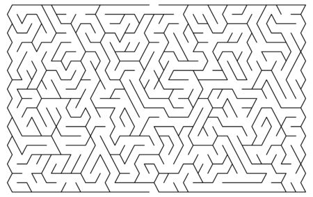 hopeless: Maze illustration for background in vector with easy evel of difficulty Illustration