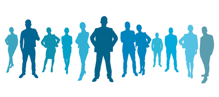 advocate: Business team group with business people as a silhouette Stock Photo