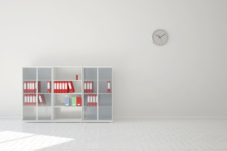 office cabinet: File cabinet with files in business office of financial lawyer