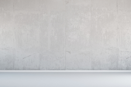 White concrete wall as background in an empty room