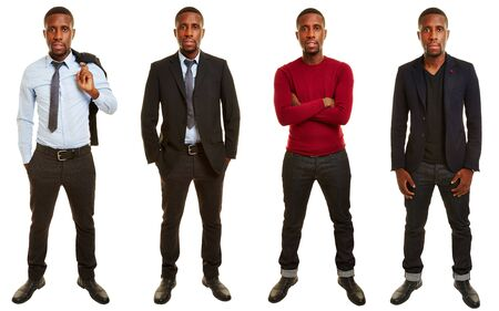 african business man: Versions of african man with different outfits in casual and business clothing