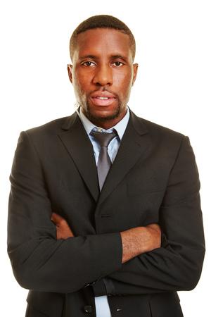 guardaespaldas: Hombre africano como escolta con un audífono en el oído