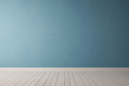 Blue concrete wall in an empty room as background