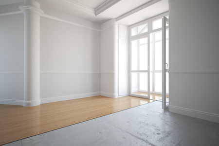 hardwood: Laying out new parquet flooring in an old house
