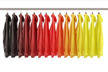 national colors: Many shirts in the national colors of Germany Stock Photo