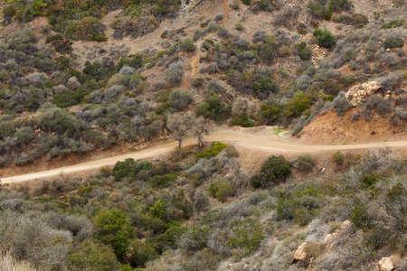 san fernando valley: Dirt road through San Fernando valley in California, USA Stock Photo