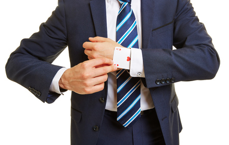 cheater: Tricky business manager pulling an ace out of his sleeve