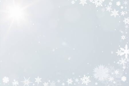 christmas motif: Snow crystals as a winter background for christmas