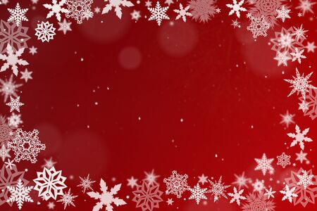 christmas motif: Red background with snow crystals for christmas