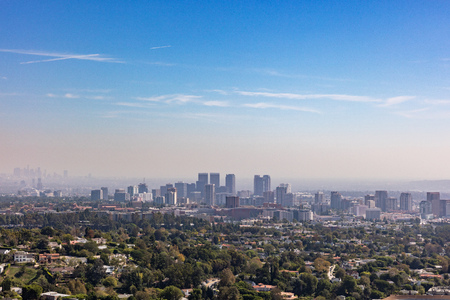 san fernando valley: Skyline of downtown Los Angeles, California within the San Fernando valley