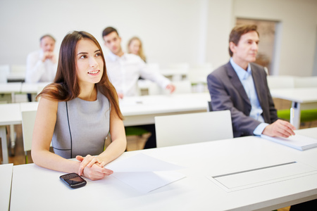 Business people during training in a business workshop Stock Photo