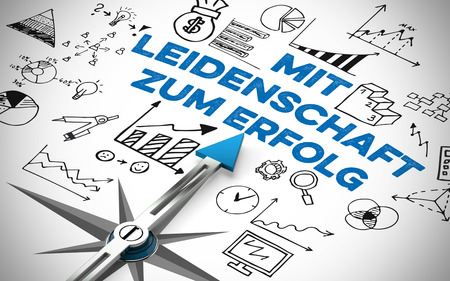 Business concept in German with the slogan