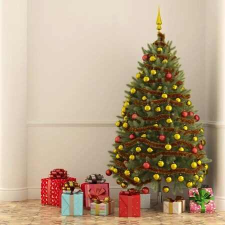 many gifts under the christmas tree for christmas eve 3d rendering stock photo - How Many Gifts For Christmas